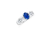 1.63 CT Oval Sapphire Diamond Ring 0.60 CT TW 14K White Gold SPR005 - NorthandSouthJewelry