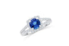 1.67 CT Tanzanite Diamond Ring 0.53 CT TW 14K White Gold TZR003 - NorthandSouthJewelry
