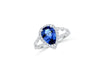 1.98 CT Tanzanite Diamond Ring 0.58 CT TW 14K White Gold TZR004 - NorthandSouthJewelry