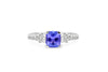 1.21 CT Cushion Cut Tanzanite Diamond Ring 0.79 CT TW 14K White Gold TZR011 - NorthandSouthJewelry