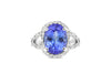 4.79 CT Oval Tanzanite Diamond Ring 0.82 CT TW 14K White Gold TZR013 - NorthandSouthJewelry