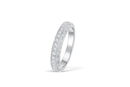 Diamond Anniversary Band 0.37 ct tw Round-cut 14K White Gold