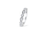 Milgrain Diamond Wedding Band 0.29 ct tw Round-cut 14K White Gold BAN004