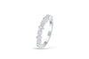 Diamond Wedding Band 0.28 ct tw Round-cut 14K White Gold BAN005 - NorthandSouthJewelry
