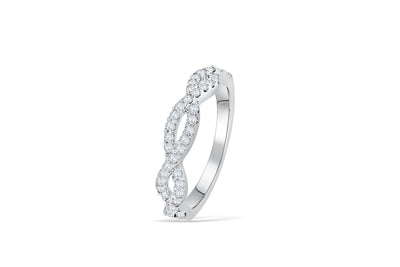 Entwined Waves Diamond Anniversary Band 0.43 ct tw Round-cut 14K White Gold BAN008