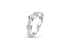 "Chevron ""V Shaped"" Diamond Wedding Band 0.43 ct tw Round-cut 14K White Gold BAN009 - NorthandSouthJewelry"