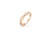 Entwined Wave Diamond Wedding Band 0.20 ct tw Round-cut 14K Rose Gold BAN012