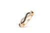 Entwined Wave Chocolate Diamond Wedding Band 0.46 ct tw Round-cut 14K Rose Gold BAN017 - NorthandSouthJewelry