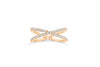 X Cross Diamond Band 0.39 ct tw Round-cut 14K Rose Gold BAN020