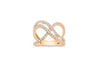 Interlocked Double Infinity Diamond Band 0.83 ct tw Round-cut 14K Rose Gold BAN022