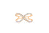 X Cross Diamond Anniversary Ring 0.51 ct tw Round-cut 14K Rose Gold BAN023 - NorthandSouthJewelry