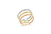 Wedding/Anniversary Band 14K White/Rose/Yellow Gold BAN024 - NorthandSouthJewelry