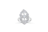 Diamond Anniversary Ring 0.52 ct tw Round-cut 14K White Gold BAN029