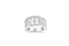 Diamond Anniversary Ring 0.21 ct tw Round-cut 14K White Gold BAN031