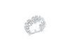 Diamond Anniversary Ring 0.62 ct tw Round-cut 14K White Gold BAN033