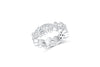 Diamond Anniversary Ring 0.67 ct tw Round-cut 14K White Gold BAN034
