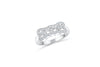 Milgrain Diamond Ring 0.18 ct tw Round-cut 14K White Gold BAN035