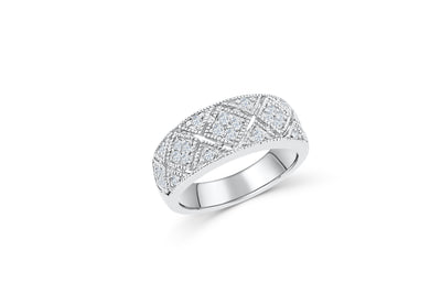 Diamond Anniversary Ring 0.41 ct tw Round-cut 14K White Gold BAN036