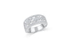 Milgrain Diamond Band 0.28 ct tw Round-cut 14K White Gold BAN037 - NorthandSouthJewelry