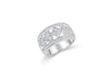 Milgrain Heart Diamond Anniversary Band 0.68 ct tw Round-cut 14K White Gold BAN040