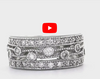 Diamond Anniversary Band 0.70 ct tw Round-cut 14K White Gold BAN032 - NorthandSouthJewelry