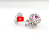 1.20 Pink Tourmaline Diamond Earring 0.35 CT TW Diamonds 14K White Gold PTER001 - NorthandSouthJewelry