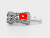 Milgrain Diamond Ring 0.18 ct tw Round-cut 14K White Gold BAN035 - NorthandSouthJewelry