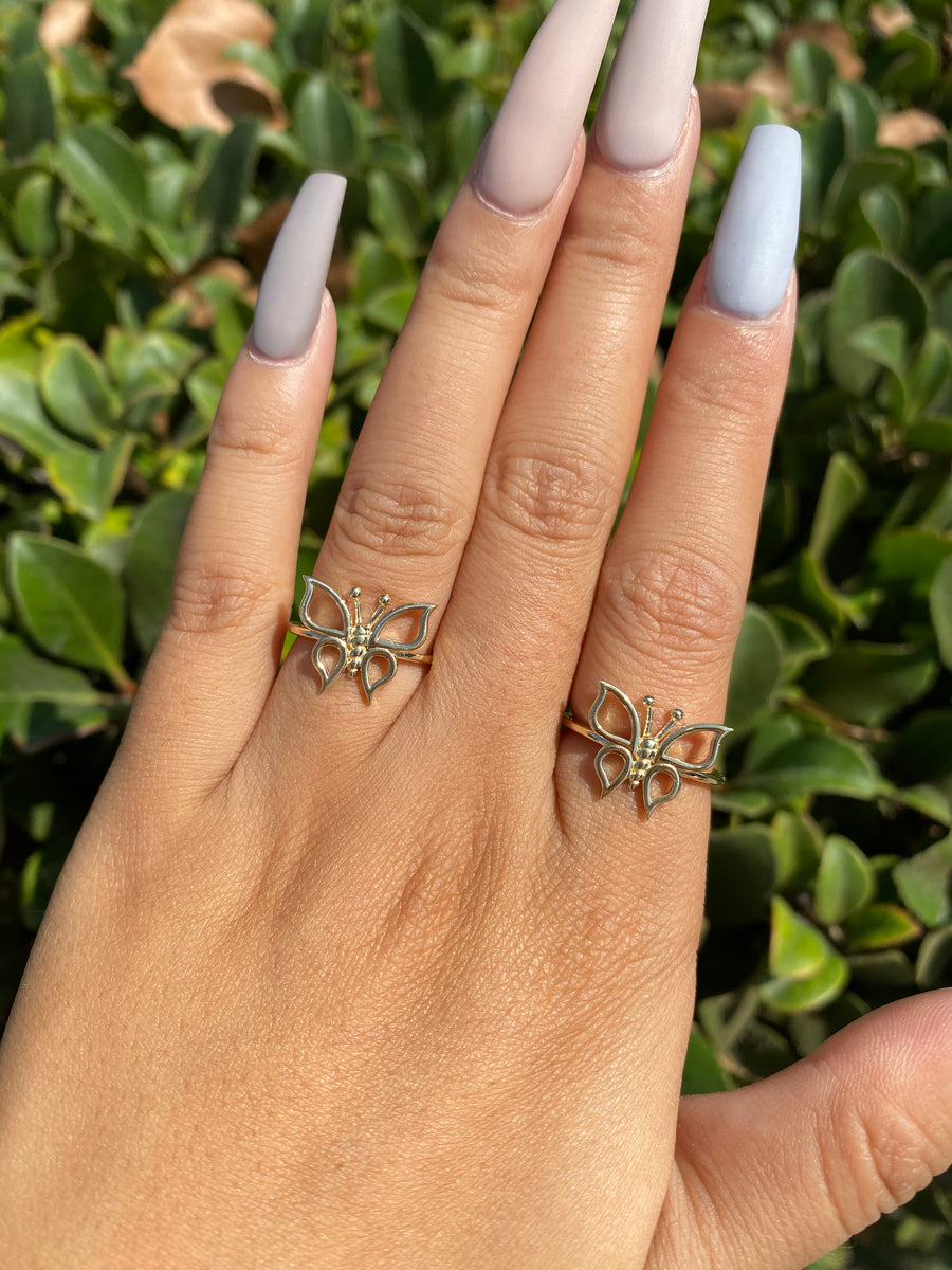 Jhené Butterfly Ring 14K or 18K Gold NIJ002