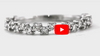 Offset Diamond Wedding Band 0.36 ct tw Round-cut 14K White Gold BAN003 - NorthandSouthJewelry