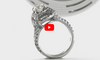 Diamond Engagement Ring 2.11 ct tw 14K White Gold DENG059 - NorthandSouthJewelry