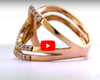 Interlocked Double Infinity Diamond Band 0.83 ct tw Round-cut 14K Rose Gold BAN022 - NorthandSouthJewelry