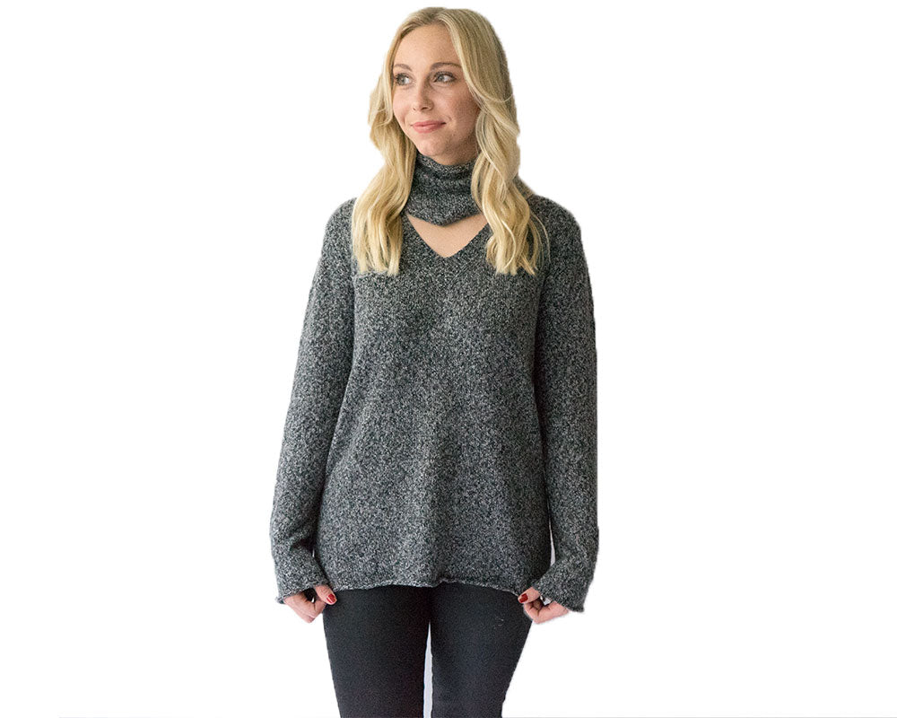 Charcoal Multi-Way Sweater
