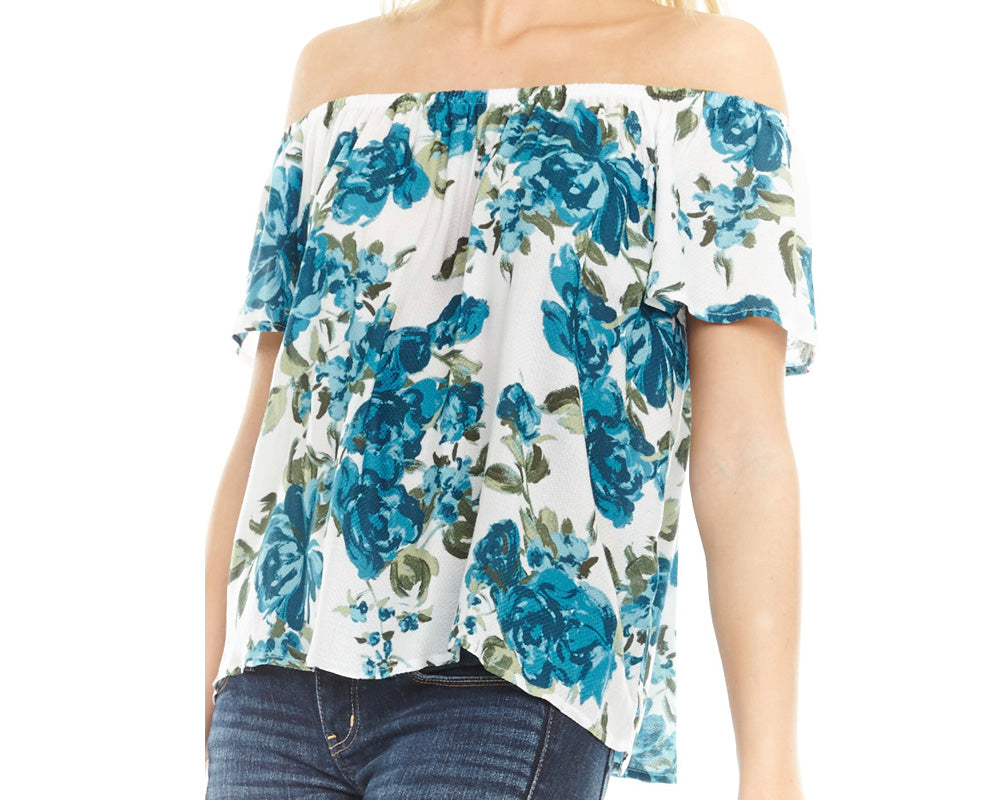 English Garden Ruffle Off the Shoulder Top