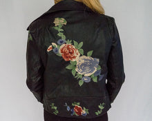 Floral Leather Jacket