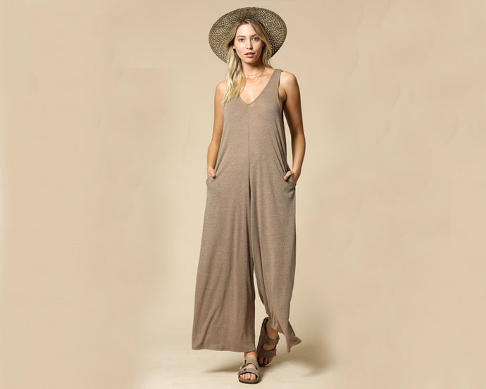 Mocha Wide Leg Jumpsuit