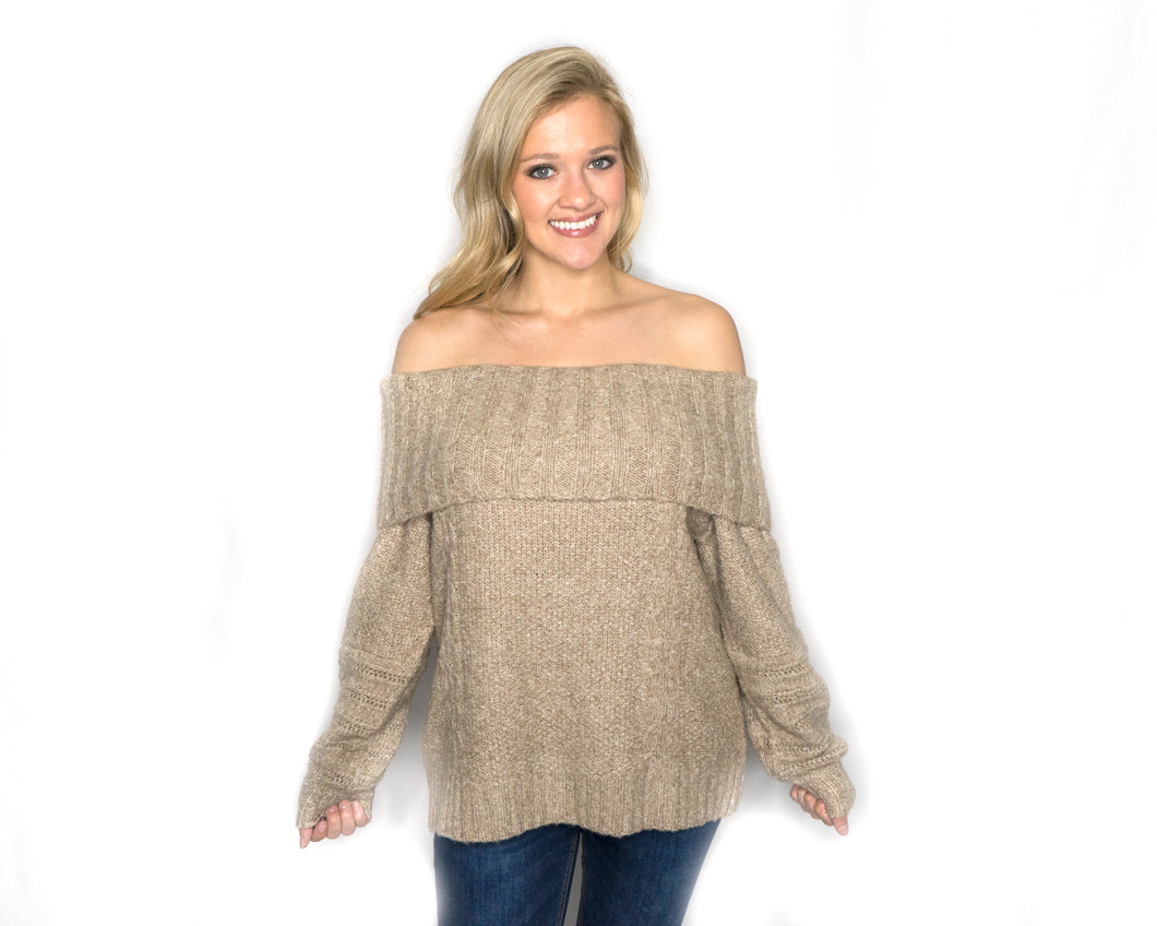 Madison Off The Shoulder Sweater