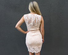 Peach Crochet Lace Dress