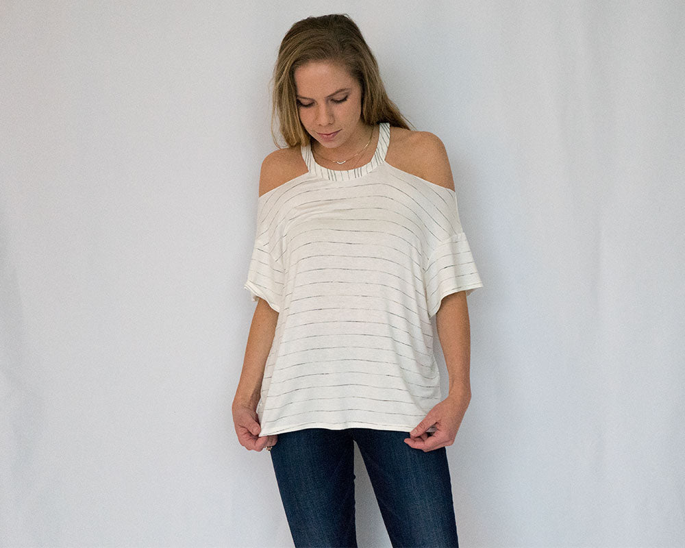 Merideth Cold Shoulder Top