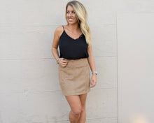 Game Day Suede Skirt