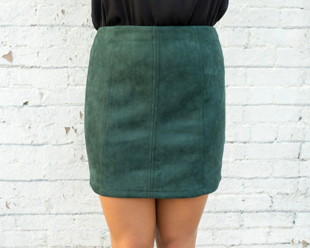 Holiday Suede Skirt