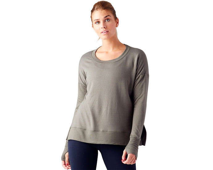 Lounge Long Sleeve in Green Moss