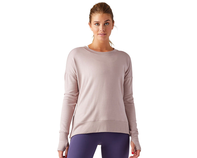 Lounge Long Sleeve in Adobe Rose