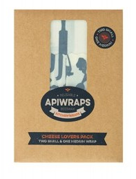 Apiwraps Cheese lovers pack 2 small and 1 medium wrap - Natural Mumma