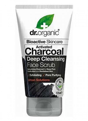 Dr. Organic Activated Charcoal Deep Cleansing Face Scrub 125ml - Natural Mumma