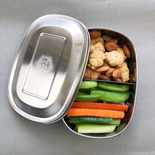 EVER ECO Stainless Steel Bento Snack Box 2 or 3 Compartments - Natural Mumma