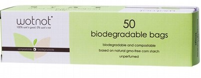 WOTNOT Nappy Bags 50 bags - 100% Biodegradable - Natural Mumma