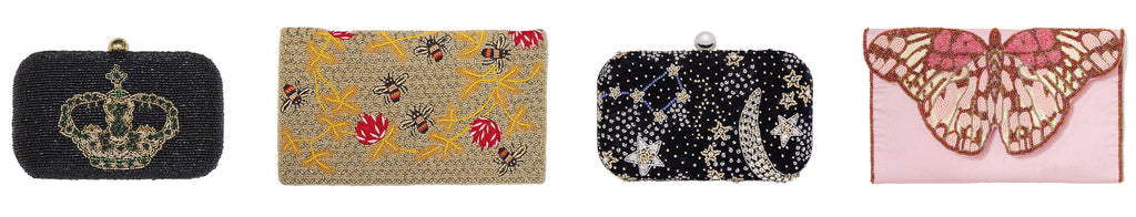 Crown of Andes, Bee Foldover, Galaxy Clutch, Butterfly Foldover