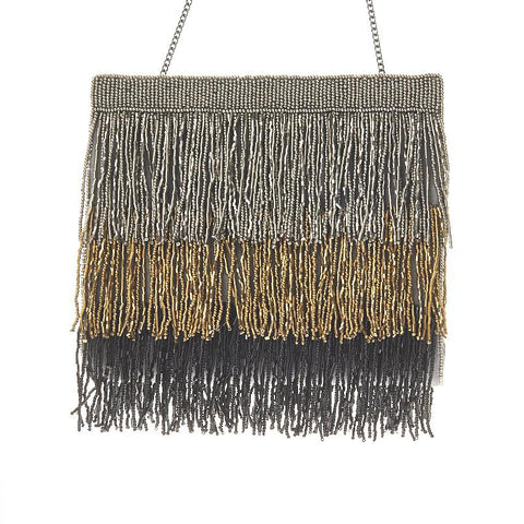 Agatha Clutch Grey/Gold-From St Xavier