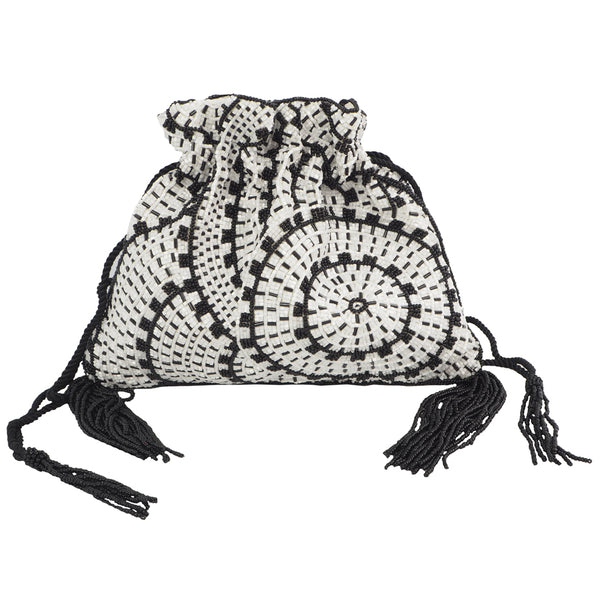 Alice Drawstring Black/White-From St Xavier