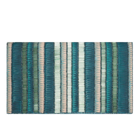 Andromeda Foldover Clutch Blue/Silver-From St Xavier
